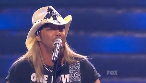 Bret Michaels american idol 2010 finals on stage